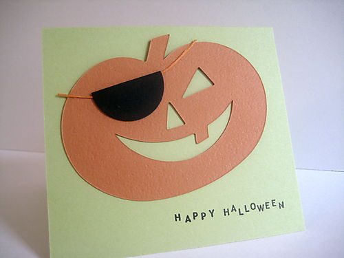 Halloween cut out with patch