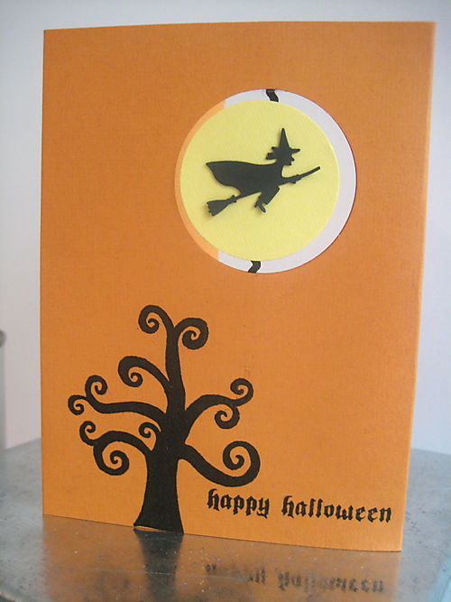 Savvy curly tree witch punch card