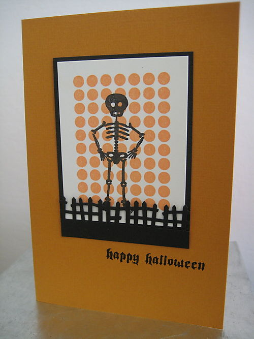 Skeleton card with fence