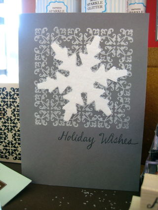 Holiday wishes large snowflake punch
