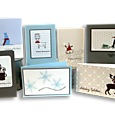 Blue & Gray Holiday Display Board