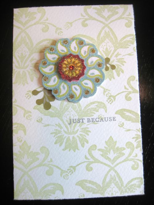 Floral card with medallion