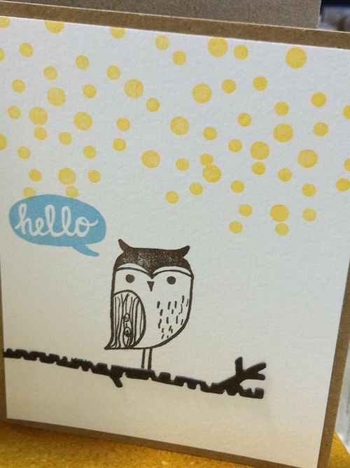 Hello owl with birch tree die