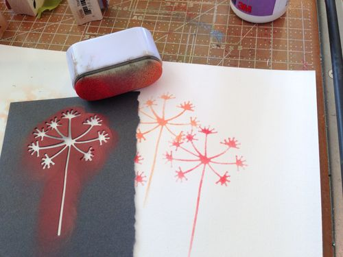 Wishing flower stencil