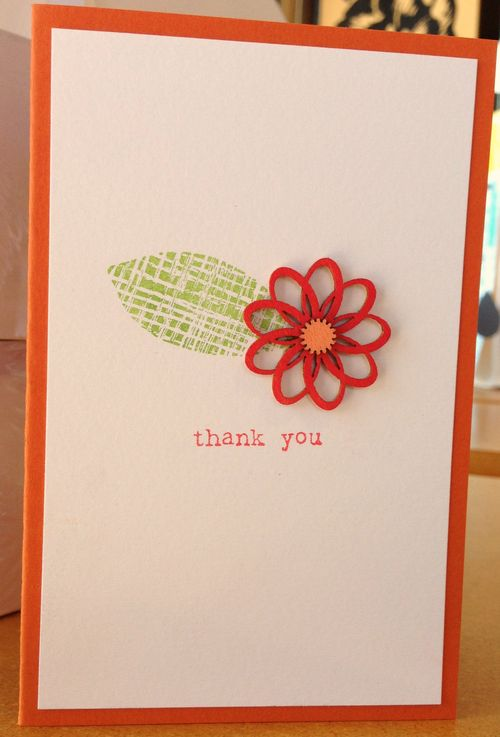 Wooden flower card