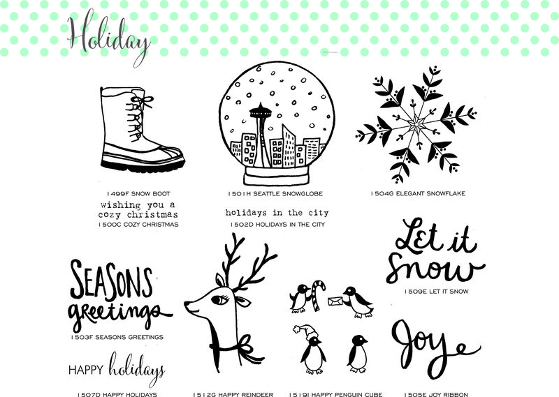 Holiday page 1 stamps