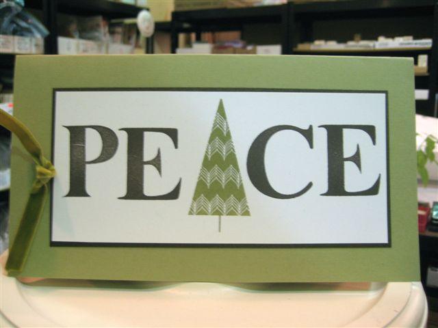 Peace zig zag tree