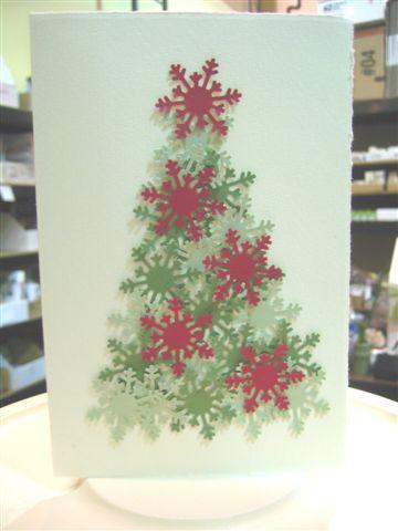 Snowflake punch tree card